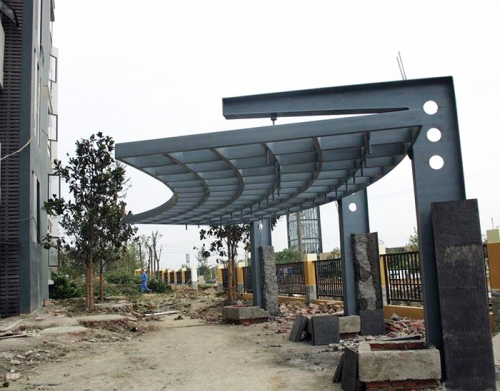 钢结构廊架制作